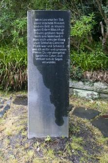 Deutscher Soldatenfriedhof Glencree: Gedicht von Stan O'Brien