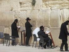 Betende Juden an der Klagemauer