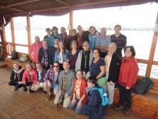 Gruppenfoto während der Bootsfahrt auf dem See Genezareth