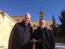 Vor der 40-Märtyrer-Kirche in Mardin