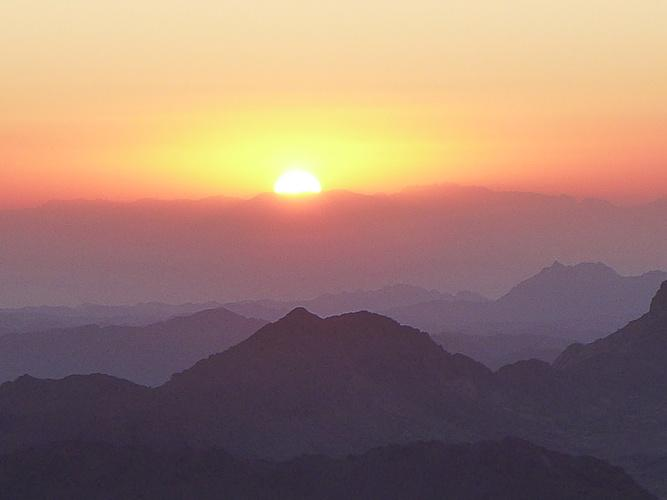 Sonnenaufgang über dem Sinai