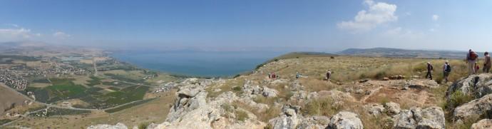 Wanderung vom Berg Arbel zum See Genezareth