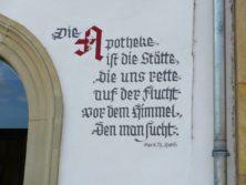 Inschrift in Zeil am Main