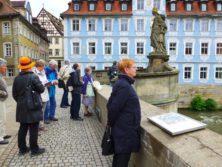 Bamberg: Untere Brücke am Rathaus mit Hl. Kunigunde