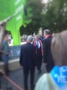 Bundespräsident Joachim Gauck auf dem Kirchentag in Stuttgart