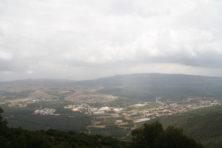 Wolken über dem Berg Meron