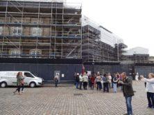 Bild des eingerüsteten Schloss Amalienborg