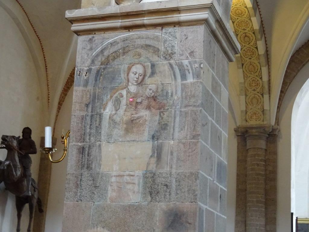 rothaarige Maria im Dom von Ribe