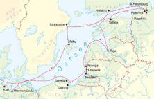 Route der Ostsee-Kreuzfahrt © Hansa Touristik