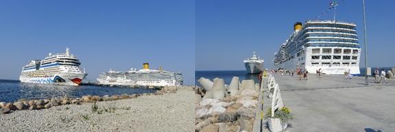 zwei Megaliner tummeln sich in der Ostsee © Jutta Schobel