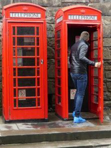 Telefonhäuschen in Edinburgh