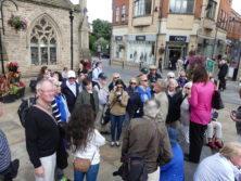 Auf dem Marktplatz von Durham