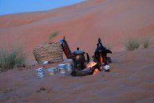 Kaffee in der Wüste Wahiba Sands