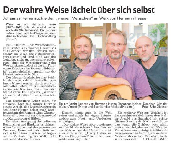 Der wahre Weise lächelt über sich selbst - Nürnberger Nachrichten 07.07.2017